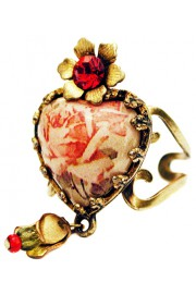 Michal Negrin Roses Cameo Heart Ring