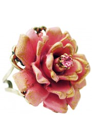 Michal Negrin Pink Large Rose Ring