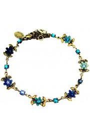 Michal Negrin Blue Turquoise Aqua Floral Anklet