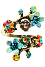 Michal Negrin Multicolor Tiedye Cherry Blossom Wrap Ring