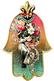 Michal Negrin Multicolor Victorian Lady Large Hamsa