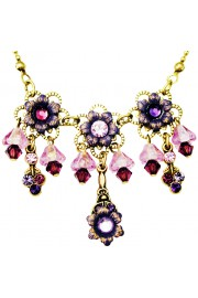 Michal Negrin Purple Lily Bells Necklace
