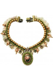 Michal Negrin Heritage Lace Necklace
