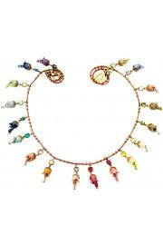 Michal Negrin Multicolor Bells Necklace