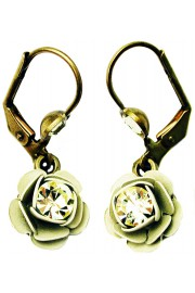 Michal Negrin Champagne Rose Earrings