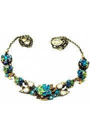 Michal Negrin Tie-dye New York Roses Necklace