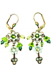 Michal Negrin Green Floral Beads Earrings