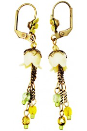 Michal Negrin Yellow Lily Bells Earrings
