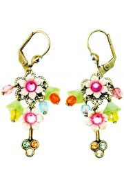 Michal Negrin Multicolor Floral Beads Earrings