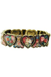 Michal Negrin Valentine Hearts Bracelet