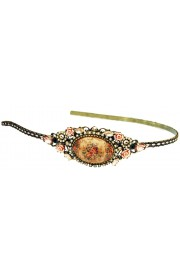 Michal Negrin Victorian Roses Cabochon Cameo Headband