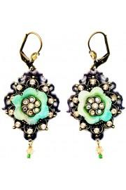 Michal Negrin Glitter Flower Earrings