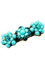 Michal Negrin Turquoise Crystal Beads Hair Clip