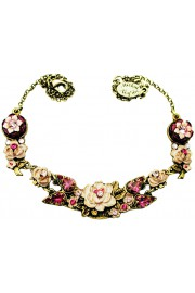 Michal Negrin Fuchsia New York Roses Necklace