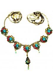 Michal Negrin Multicolor Drops Floral Necklace