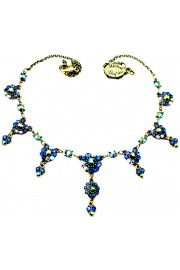 Michal Negrin Blue Swirl Drops Necklace