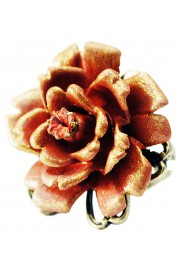 Michal Negrin Tangerine Large Rose Ring