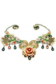 Michal Negrin Vintage Rose Garden Necklace