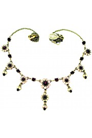 Michal Negrin Gold Garnet Drops Necklace