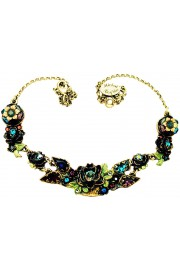 Michal Negrin Jewel Tones New York Roses Necklace