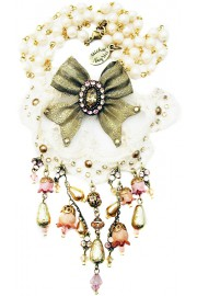 Michal Negrin Victorian Bow Lace Necklace