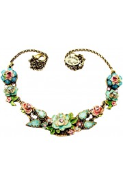 Michal Negrin Vintage New York Roses Necklace