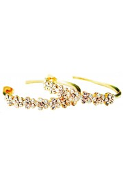 "Michal Negrin Gold Plated 1 1/2"" Hoop Earrings"