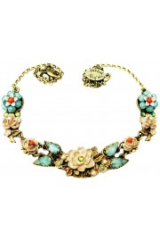 Michal Negrin Antique New York Roses Necklace