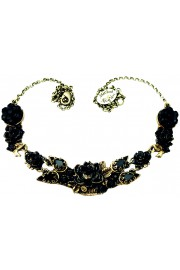 Michal Negrin Black New York Roses Necklace