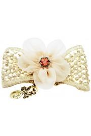 Michal Negrin Vintage Net Flower Bracelet