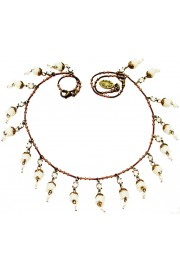 Michal Negrin White Bells Necklace