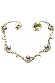 Michal Negrin Aurora Borealis Art Nouveau Necklace