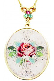 Michal Negrin The Rose Medallion Necklace