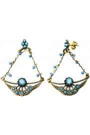 Michal Negrin Jeans Tone Art Nouveau Earrings