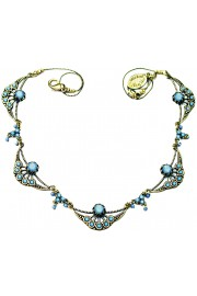Michal Negrin Jeans Tone Art Nouveau Necklace