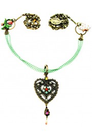 Michal Negrin Vintage Open Heart Necklace