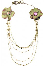 Michal Negrin Multichain Flowers Necklace