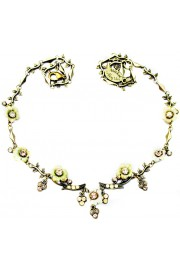 Michal Negrin Yellow Flowers Crystals Necklace