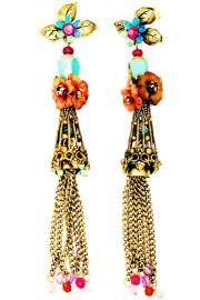 Michal Negrin Vintage Tassel Fringe Earrings