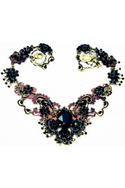 Michal Negrin Black Shadow Crystal Necklace