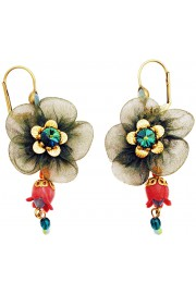 Michal Negrin Fabric Flower Earrings