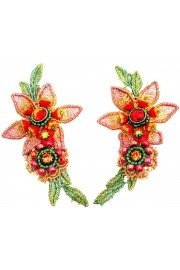 Michal Negrin Exotic Flower Clip Earrings