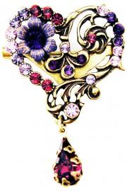 Michal Negrin Purple Heart Brooch