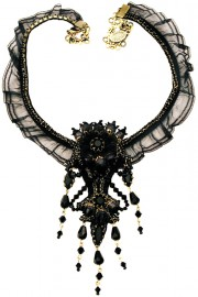 Michal Negrin Black Victorian Necklace