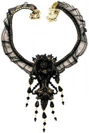 Michal Negrin Black Victorian Necklace