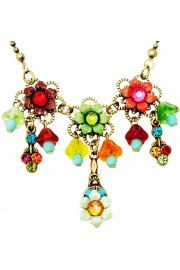 Michal Negrin Multicolor Lily Bells Necklace
