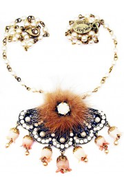 Michal Negrin Pearl Deco Necklace