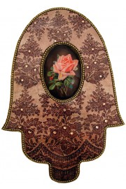 Michal Negrin Vintage Rose Cameo Wall Decor Hamsa