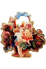 Michal Negrin Victorian Cherub Roses Brooch