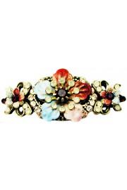 Michal Negrin Vintage Tiedye Floral Hair Clip